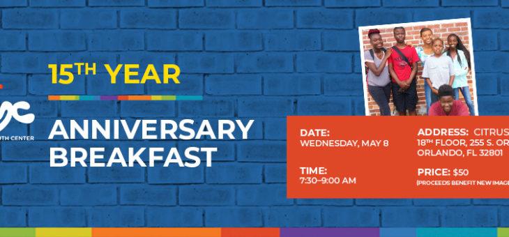 15th Anniversary Breakfast